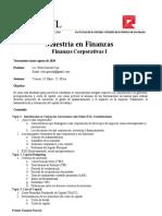 finanzas corporativas i