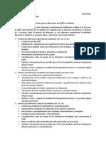 Requisitos para la liberacion de OGM en México