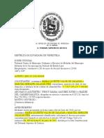 sentencia REPÚBLICA BOLIVARIANA DE VENEZUELA