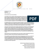 Arwine Letter to Governor Martinez RE DHSEM DPS