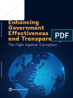 Enhancing Government Effectiveness and Transparency the Fight Against Corruption