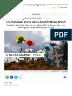Os humanos que o vírus descobriu no Brasil   Opinião   EL PAÍS Brasil