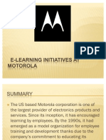 E-learning initiatives at motorola