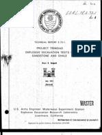 Project Trinidad,  Explosive Excavation Tests