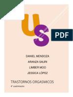 TRASTORNOS DEL ORGASMO FEMENINO Y MASCULINO