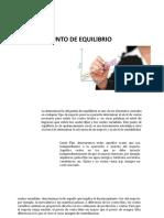 PUNTO DE EQUILIBRIOL