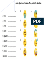 Emotions Match exercise