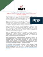 ONPE Busca Instalar Mesas de Sufragio en Mil Centros Poblados Para Las Elecciones Generales