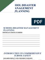 SCHOOL DISASTER MANAGEMENT PLANNING workshop June 25-26, 2019