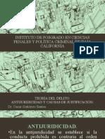 ANTIJURICIDAD Y CAUSAS DE JUSTIFICACION TEORIA DEL DELITO PRESENTACION 1.pdf