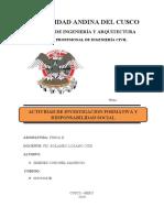 FISICA-ACTIVIDAD DE INVESTIGACION FORMATIVA Y RESPONSABILIDAD SOCIAL