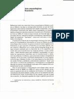 Los materiales líticos arqueológicos tipologías y clasificaciones, L. Mirambell, en Reflexiones sobre la industria lítica
