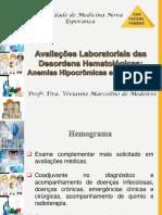 Aula 1 - Avaliações Laboratoriais das Desordens Hematológicas - Anemias Hipocrômicas e Microcíticas_ - Vivianne Medeiros