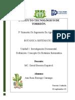 U.1 Investigación Documental Botánica sistemática