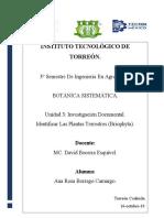 U.3 Investigación Documental  Agronomía