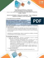 Guia de actividades y Rúbrica de evaluación - Fase 3 - Elaborar registros contables y Cierre del periodo