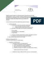 PRIMER CONCURSO ABIERTO DE OPOSICIÓN PARA LA DESIGNACIÓN DE OFICIAL ADMINISTRATIVO