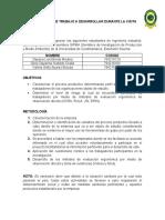 CRONOGRAMA DE TRABAJO PRIMERA VISITA A LA EMPRESA