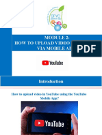 Module 2_ How to upload video in YouTube using Mobile App