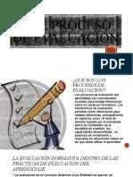 3.5 EL PROCESO DE EVALUACION