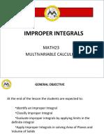 L1 Improper Integrals