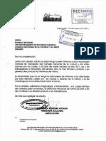 CARTA DEL DIRECTORIO NACIONAL DE ANFUCULTURA A DEPTO DE RR.HH.CNCA POR TEMA HONORARIOS