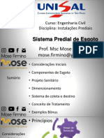 Instalacoes - Esgoto Predial