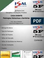 Instalacoes - Patologias CASA DOENTE