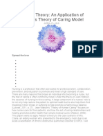 Nursing Theory An Application of Watson's Theory of Caring Model.docx