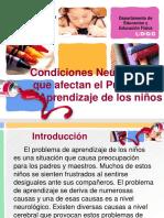 Condiciones neurolgicas en el aprendizaje de los niños