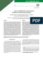 Discrepancies in cephalometric measurements in relation to NHP