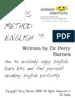 Barnes Method English (c) Perry Barnes 2008 Aprender Inglês Em Sua Casa