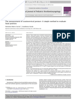 The measurement of craniocervical posture A simple method to evaluate