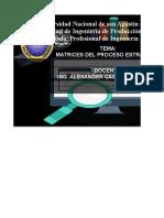 MATRIZ DEL PROCESO ESTRATEGICO