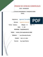 Primer cuestionario - Juan Rosales