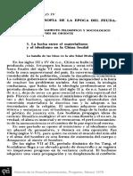 La Filosofía en La Época Del Feudalismo (Europa Occidental) Materialismo e Idealismo.
