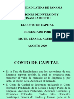Costo de Capital1 - Universidad Latina Agosto 2020