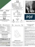 Weekly Bulletin 01-23-11