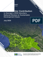 Private Sector Contribution to Georgia's 2020 Voluntary National Review on SDGs