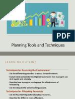 (9) PLANNING TOOLS & TECHNIQUES