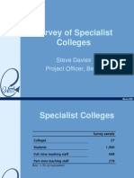2001 Specialist Colleges Presentation