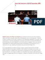 Notas Características Del Tercero Civil [Casación 498-2019, Cajamarca] _ LP