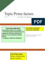 L-10 Prime factors