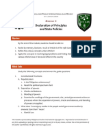 Consti review Module 2 - Principles and State Policies