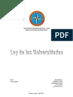 Proyecto de Ley de Universidades