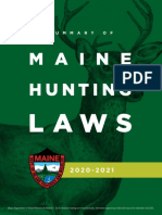 2020 Maine Hunting Laws