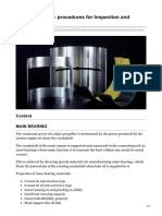 Engine Bearing - procedures for Inspection and Calibration