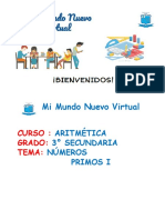 3. CLASE 11 TERCERO NUMEROS PRIMOS I