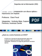 Presentacion DVD (comparacion con discos ópticos) e impresoras con impacto