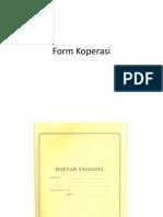Form Koperasi